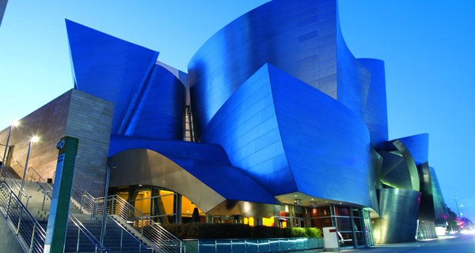 Το εντυπωσιακό Walt Disney Concert Hall στο Los Angeles.