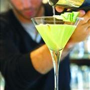 Ginger-cucumber martini