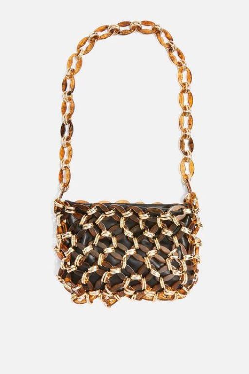 Τσάντα από δέρμα και κοκάλινους κρίκους Top Shop (www.topshop.com) b6f7e8d8103